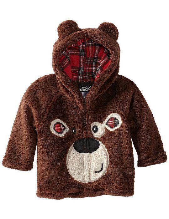 c6a2d2b049b5 FAYALE Little Boys Cartoon Bear Animal Fleece Fluffy Zipper Jacket ...
