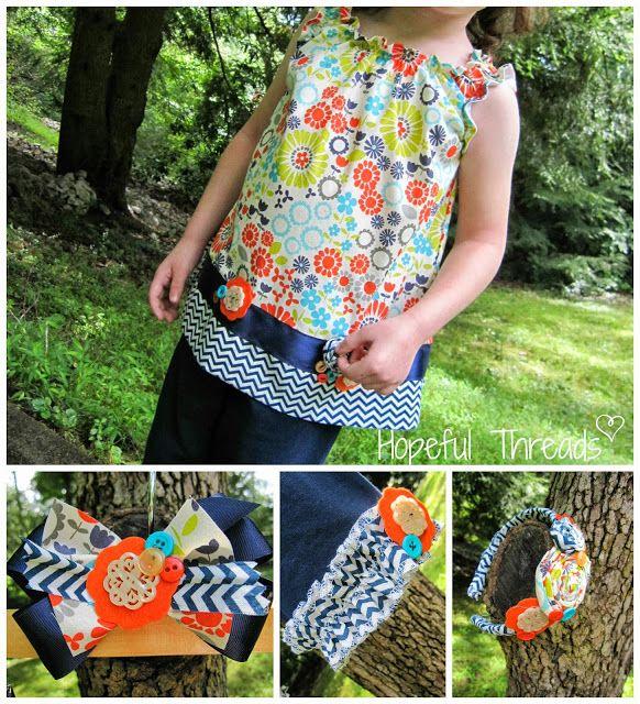 Hopeful Threads: Lucy's Little Flower Tunic - Create H.O.P.E. Designs Sew Along