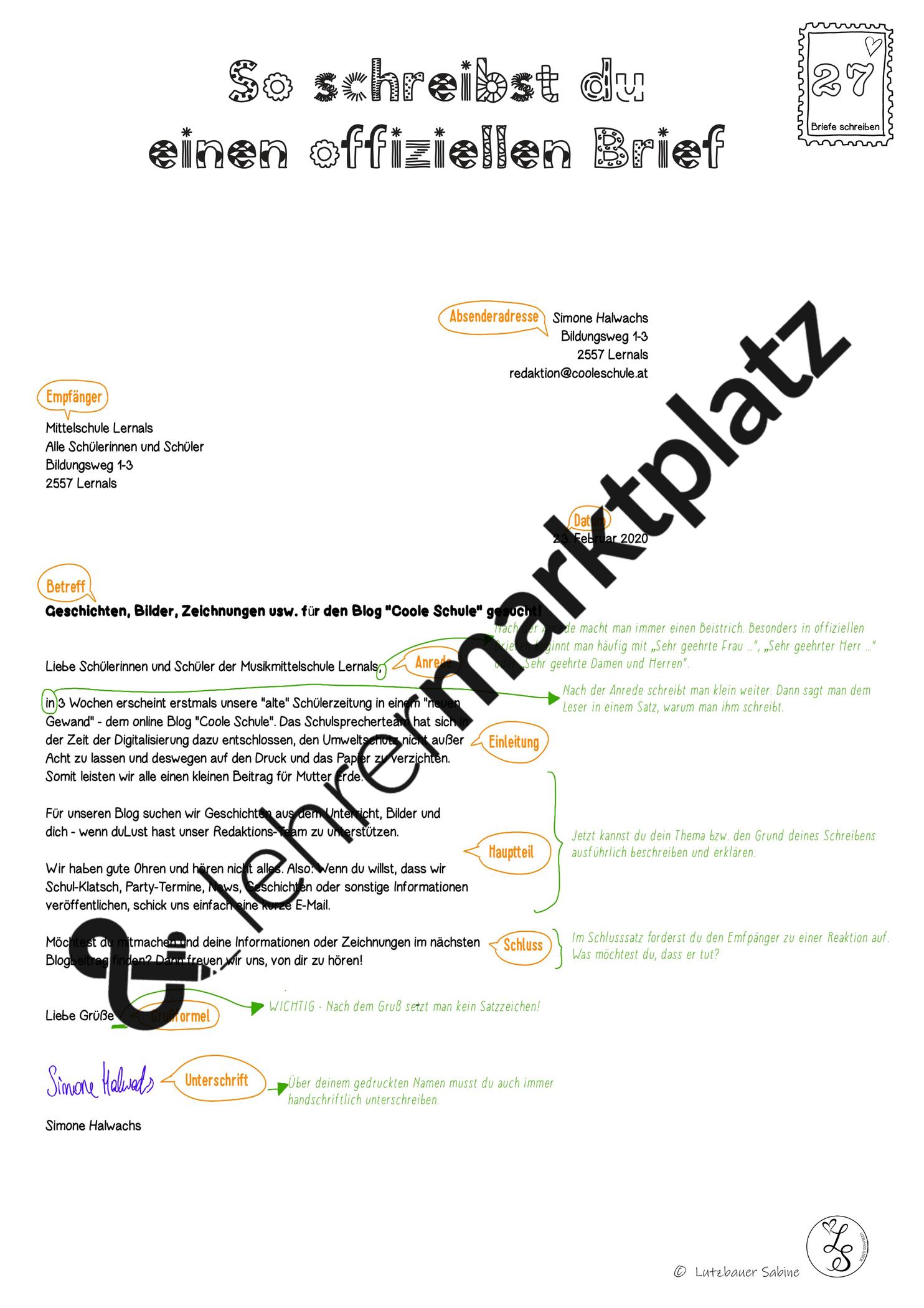 Offizieller Brief