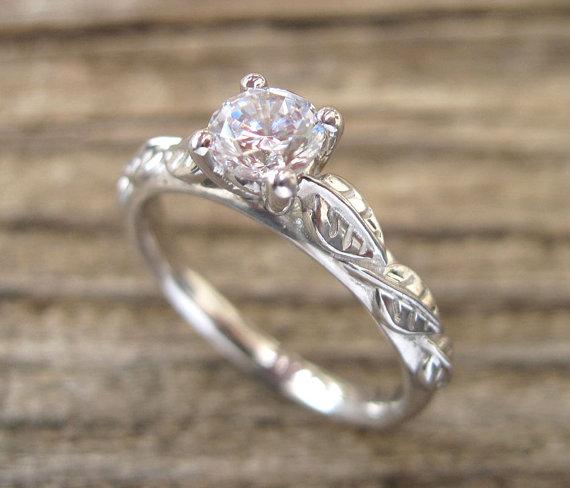 Leaf Engagement Ring Engagement Ring Antique Engagement Ring Leaf