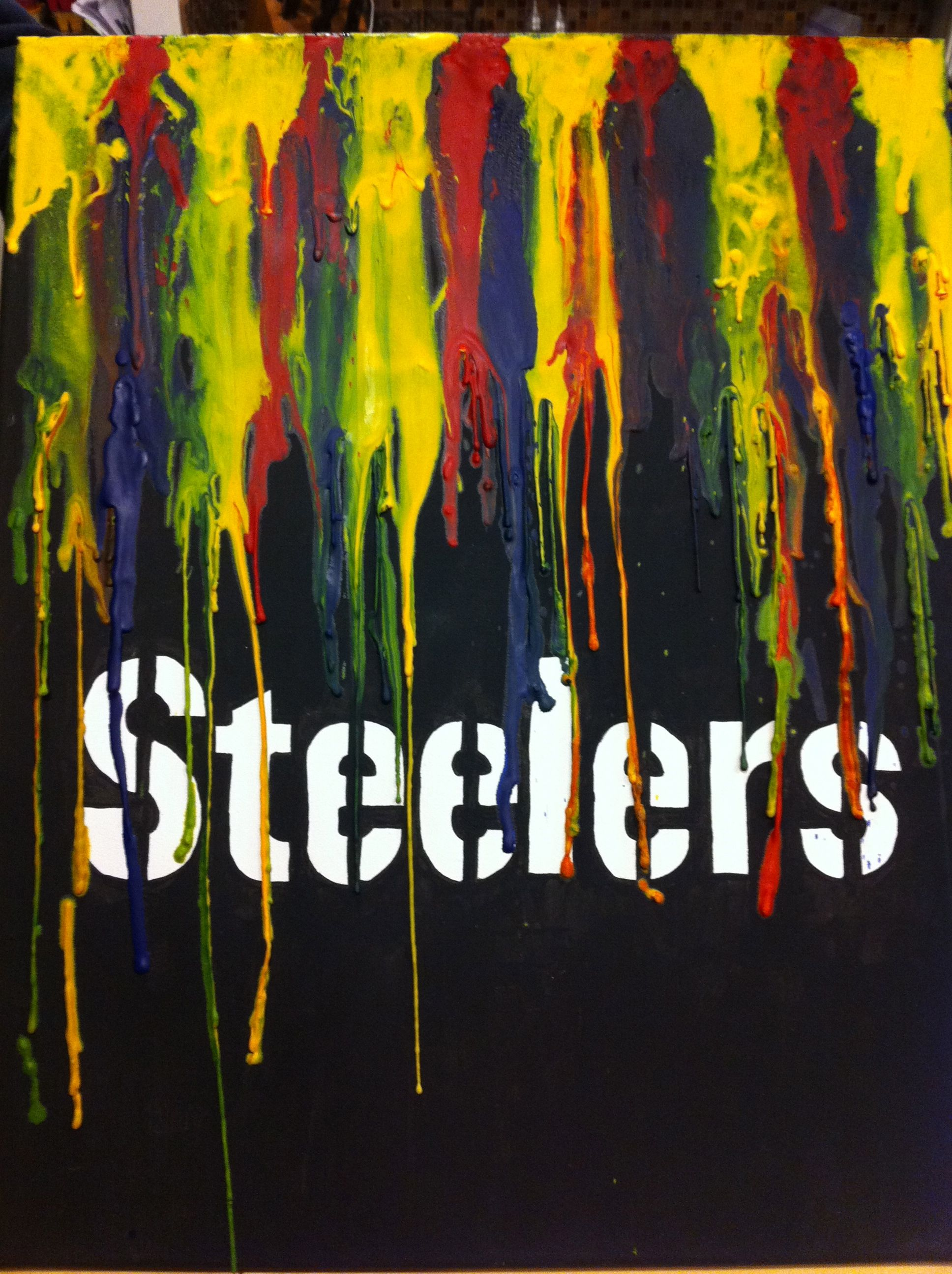 Steelers Melted Crayon Art For My Son