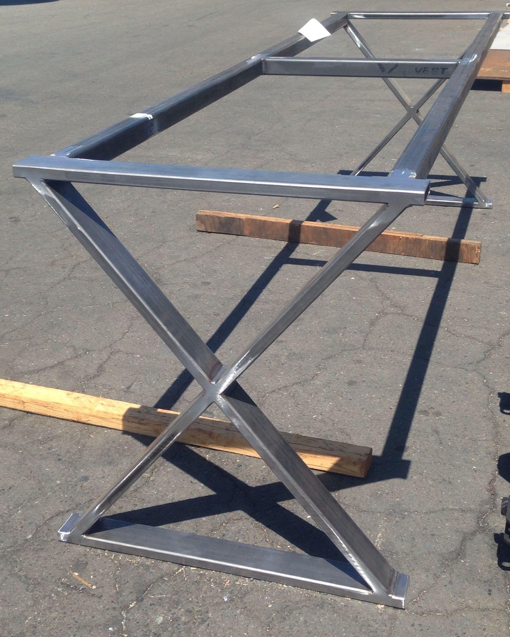 Cross Leg Metal Table Base Metal Table Base Metal Table Steel