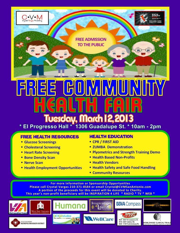 Free Community Health Fair! Tuesday, March 12,2013