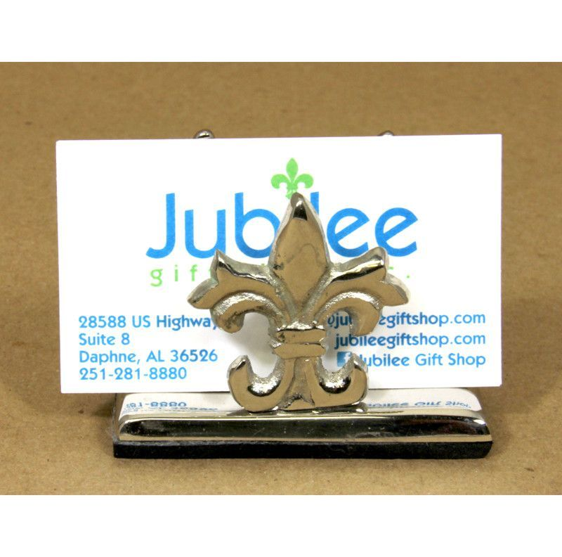 Fleur De Lis Business Card Holder Stainless steel material ...