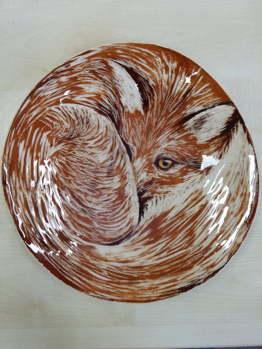 Stunning Fox Platter by Drawn and Fired.