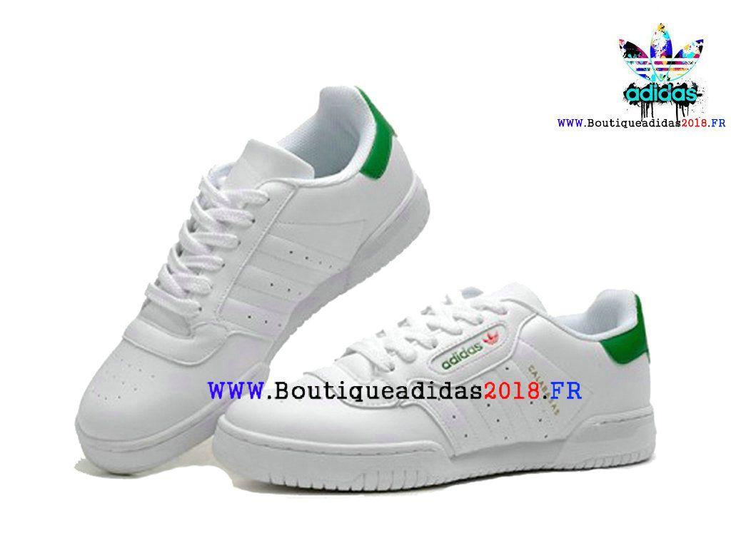 3f3e30248c9 Nouveau Yeezy x adidas Originals Powerphase Kanye West Calabasas  Homme Femme White Green CQ1695