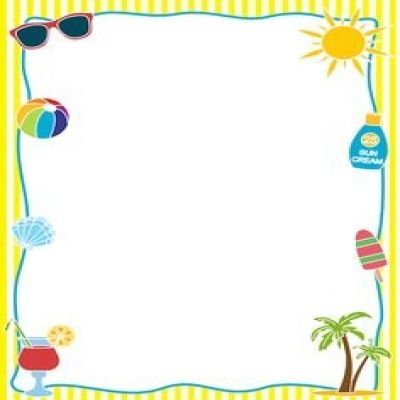 Summer border. Page clipart curves borders