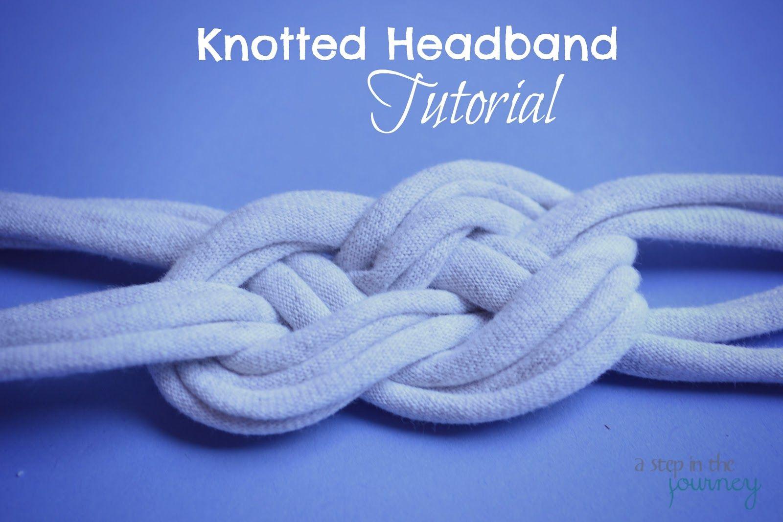 Diy tshirt knotted headband tutorial headband tutorial