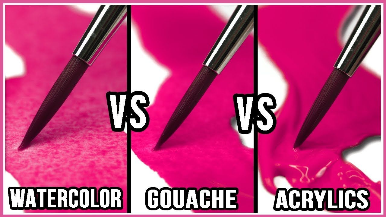 What Is The Difference Between Watercolor Gouache Acrylic Paint