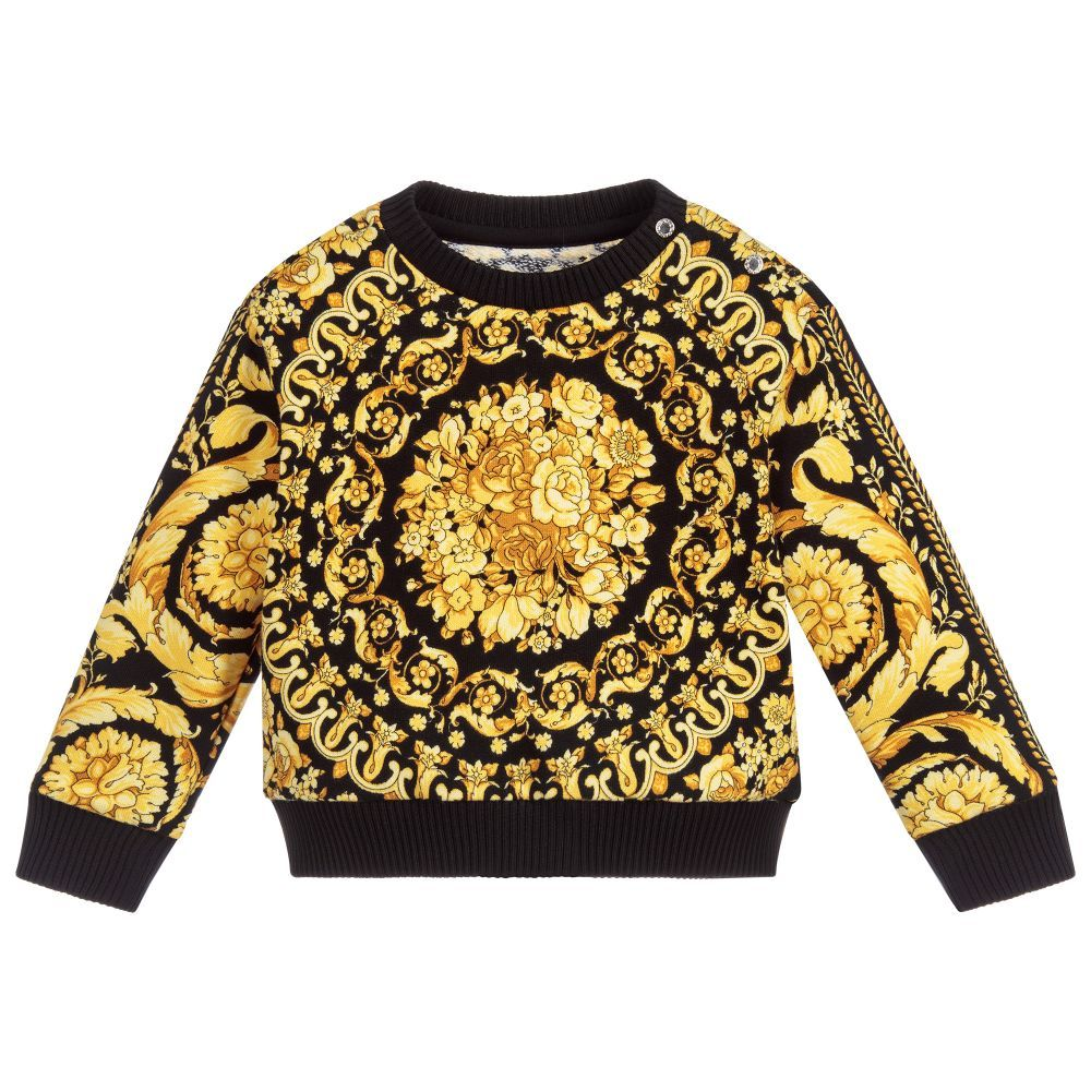bcf8c22542bb Young Versace Gold BAROQUE Baby Sweatshirt. Shop from an exclusive  selection of designer Tops