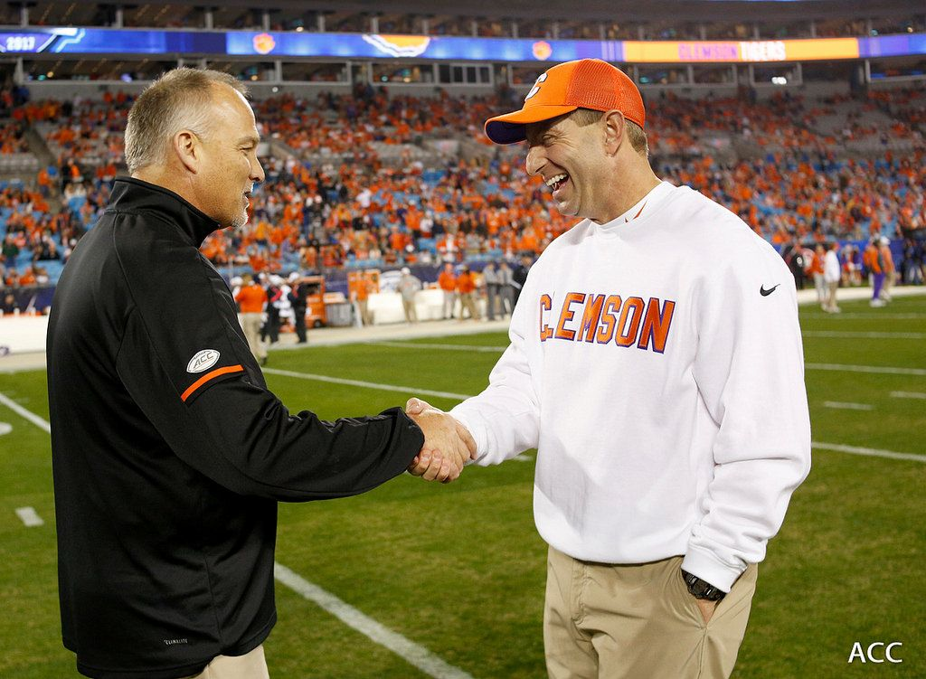 Clemson coaches Swinney and Venables on Booth incident