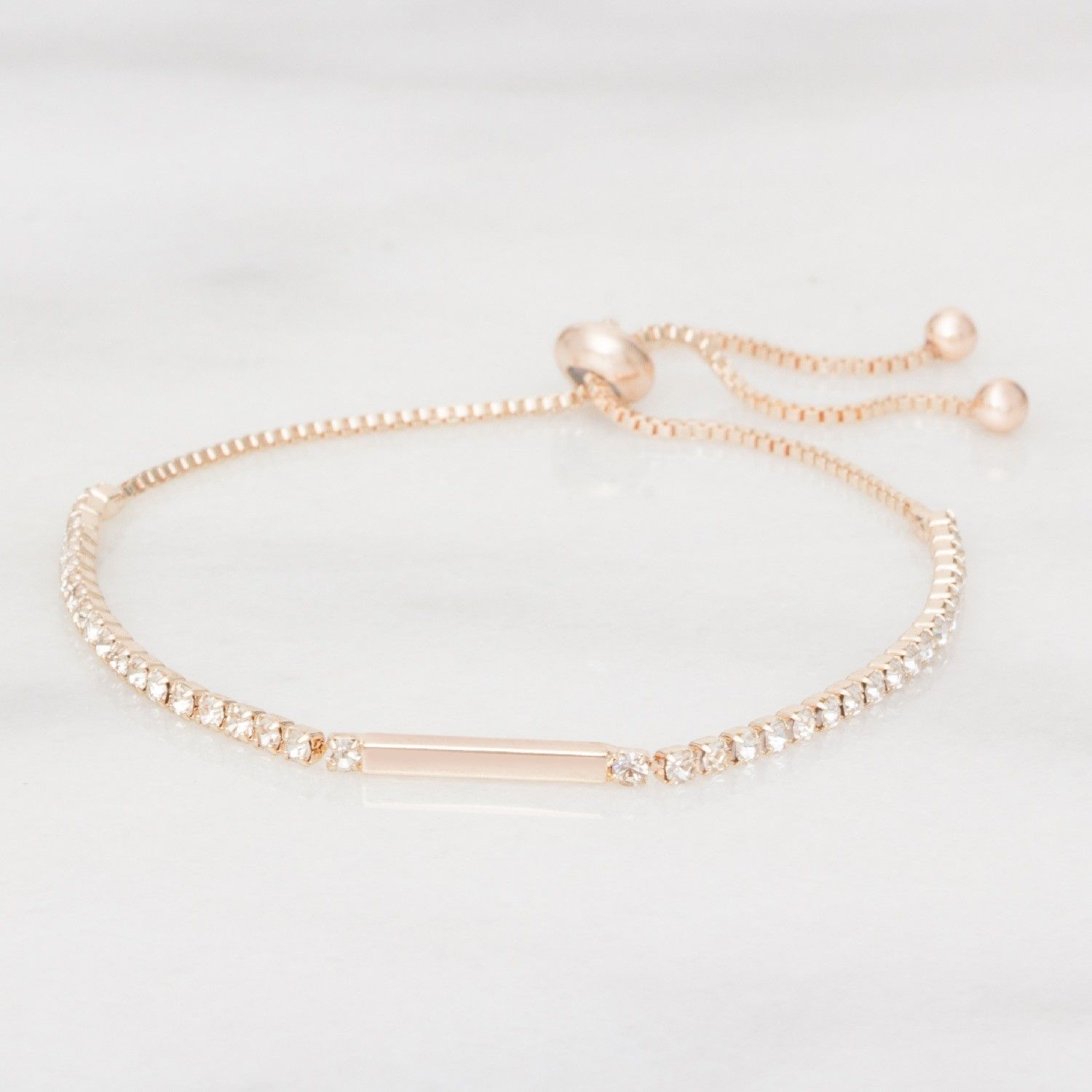 rose and bead personalised bracelet product oodlique gold silver original initial com