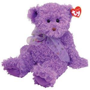 Purple Beanie Bear | Purple teddy bear (beanie baby?) from annfabulouslife.blogspot.com