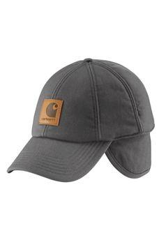 a9bbb5b4270 Carhartt Mens A199 WorkFlex Ear Flap Cap - Charcoal