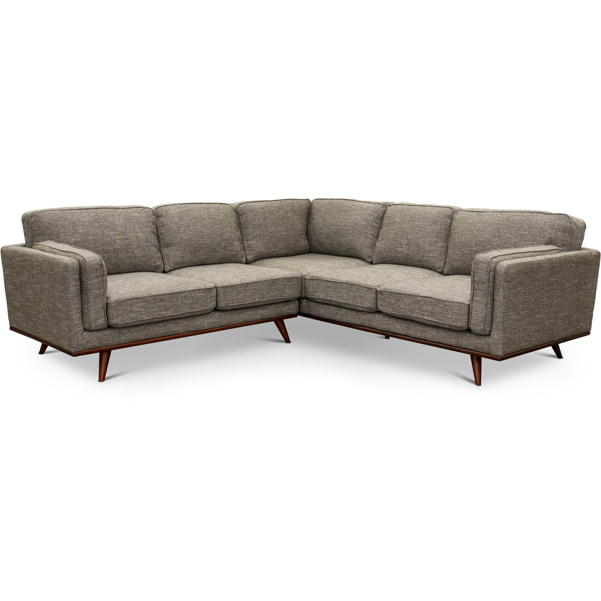 Gray 2 Piece Sectional Sofa With Laf