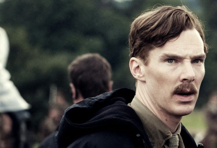 Benedict Cumberbatch - mustache! of course it reminds you of dr. watson