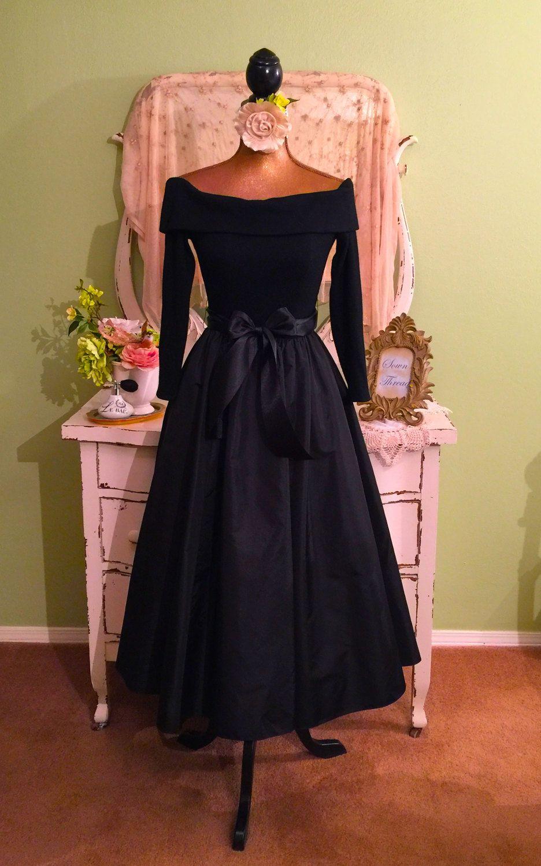 New Look Dress, Victor Costa Designer, Off Shoulder Gown, XS/S ...