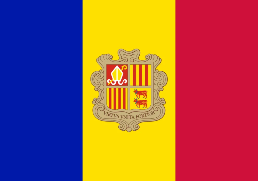 Andorra Flag In 2020 Andorra Flag Flags Of The World Flags Of European Countries