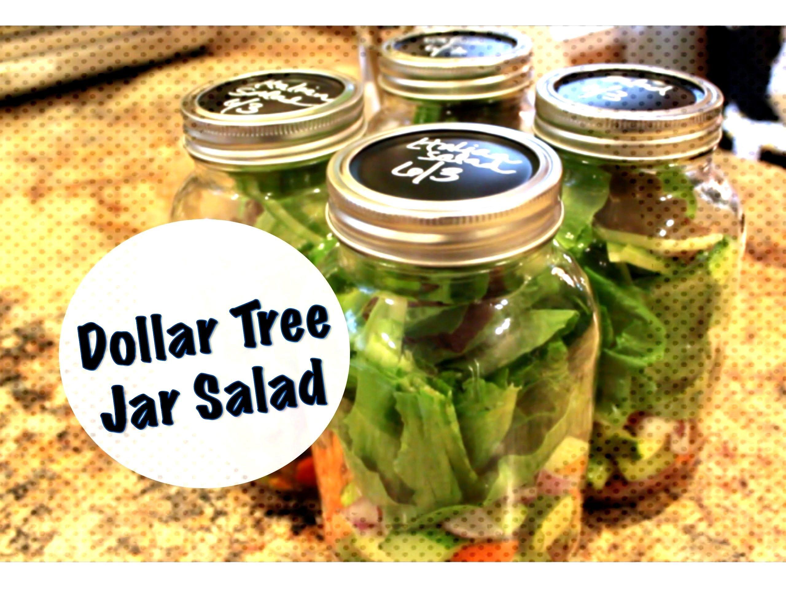 ORGANIZED LUNCHES | Dollar Tree Jar Salad - -