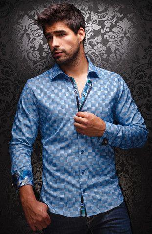 AU NOIR VINCENZO NUOVO BLUE   http://www.slimmenswear.com/collections/mens-designer-shirts/products/au-noir-vincenzo-nuovo-blue