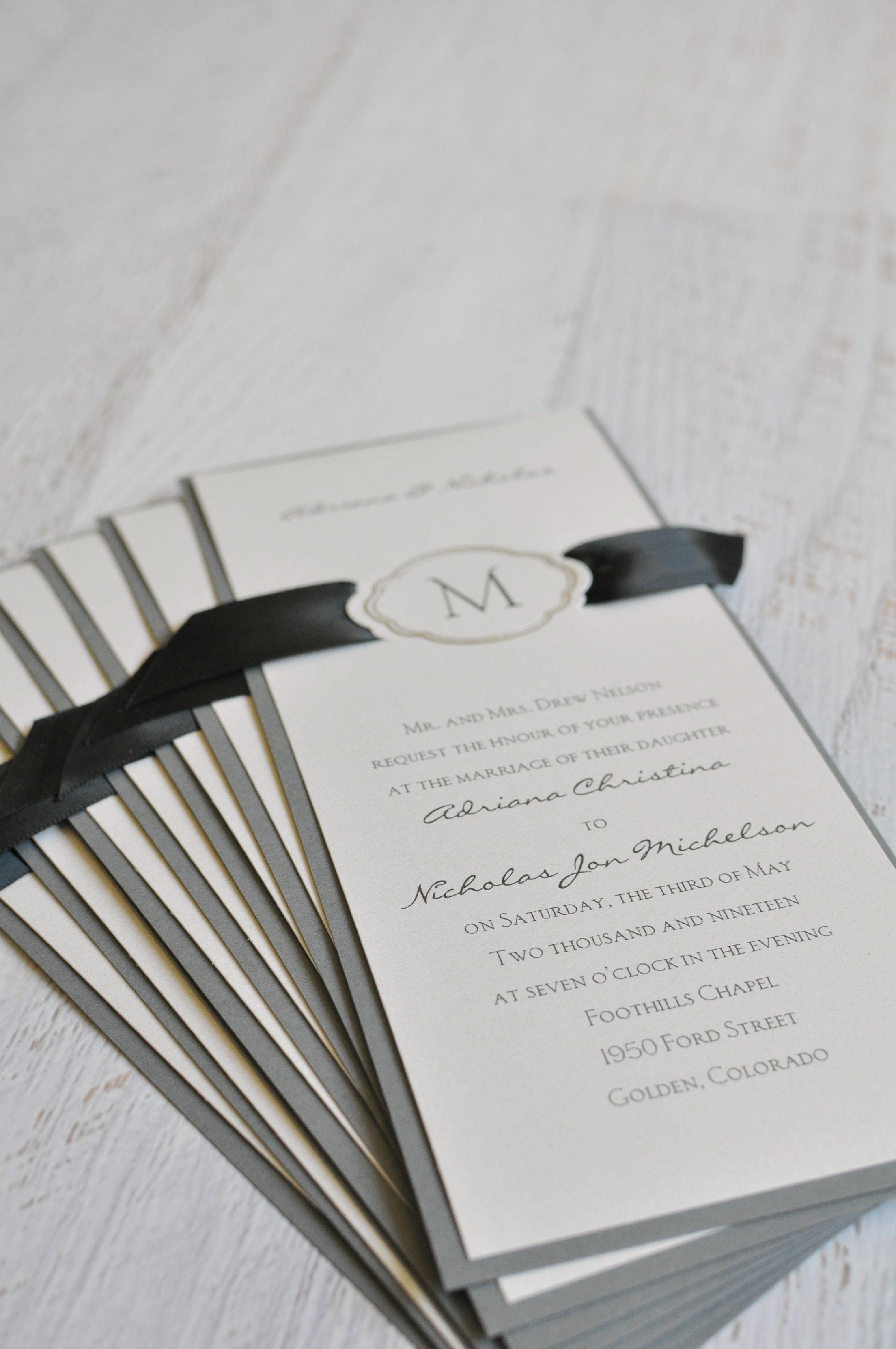 Celestial Crest - Invitation | Wedding invitation trends, Unique ...