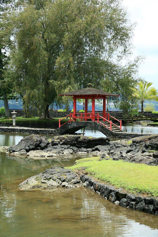 Hawaii, Big Island, Hilo, Liliuokalani Gardens