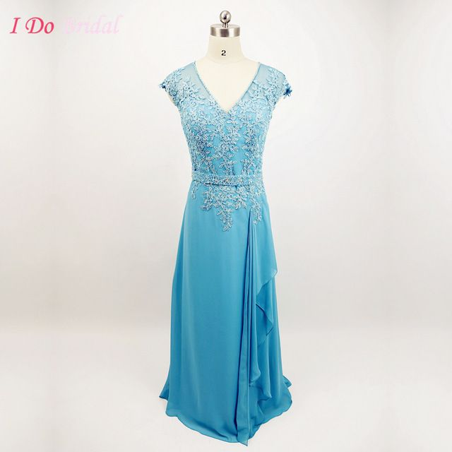 Simple Wedding Dress For Godmother: Turquoise Elegant Lace Mother Of The Bride Dresses
