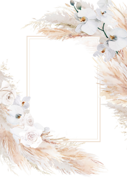Pampas Grass And White Orchids Chic Bridal Shower Invitation Zazzle Com Gold Wallpaper Background Pastel Background Wallpapers Flower Background Wallpaper