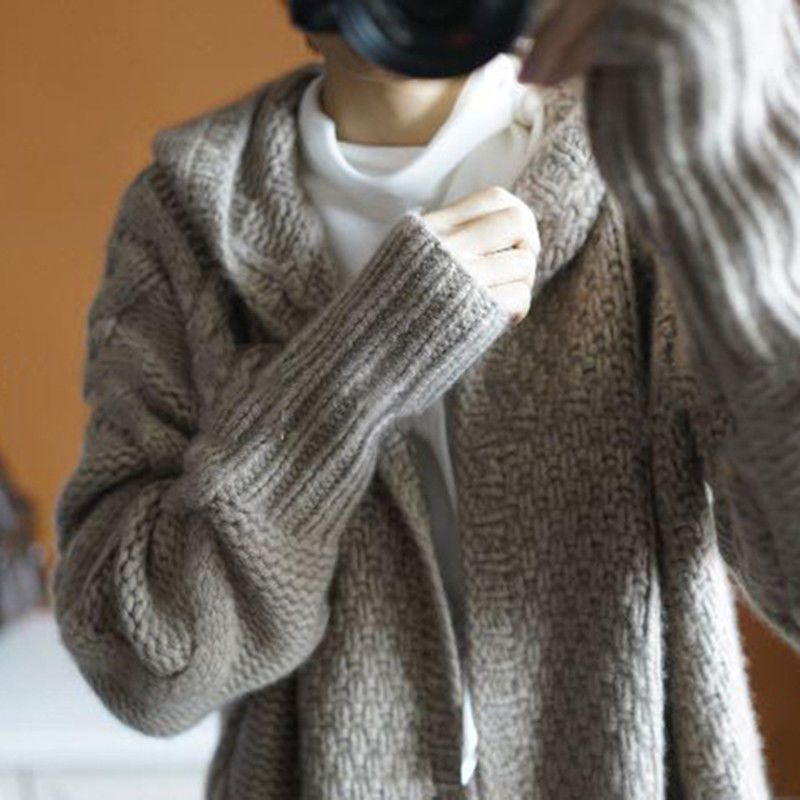 Autumn winter languid is lazy wind coat sweater sweater of