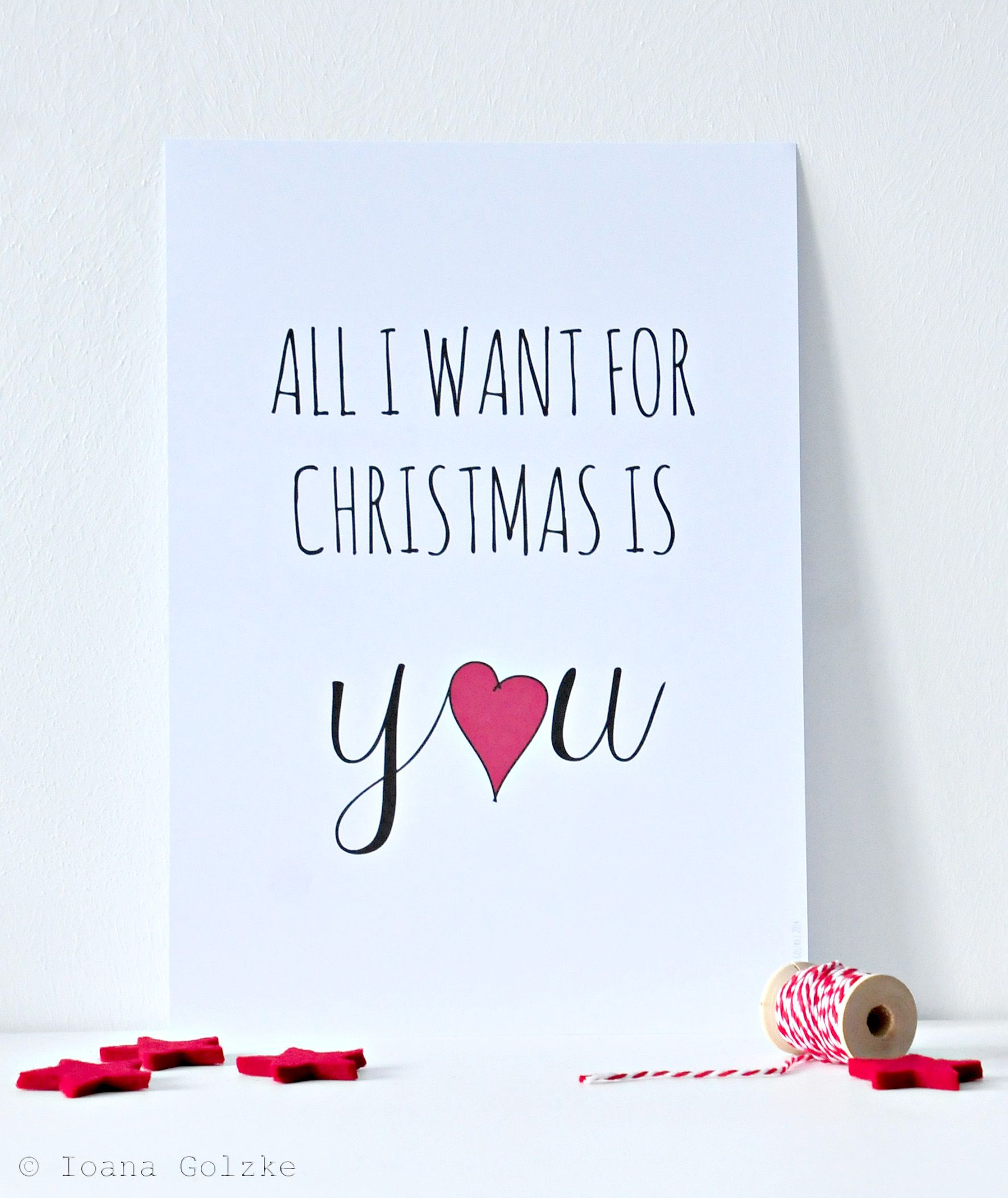 Geschenk Weihnachten All I Want For Christmas Is You Poster Merry Christmas My Love Xmas Quotes Christmas Quotes