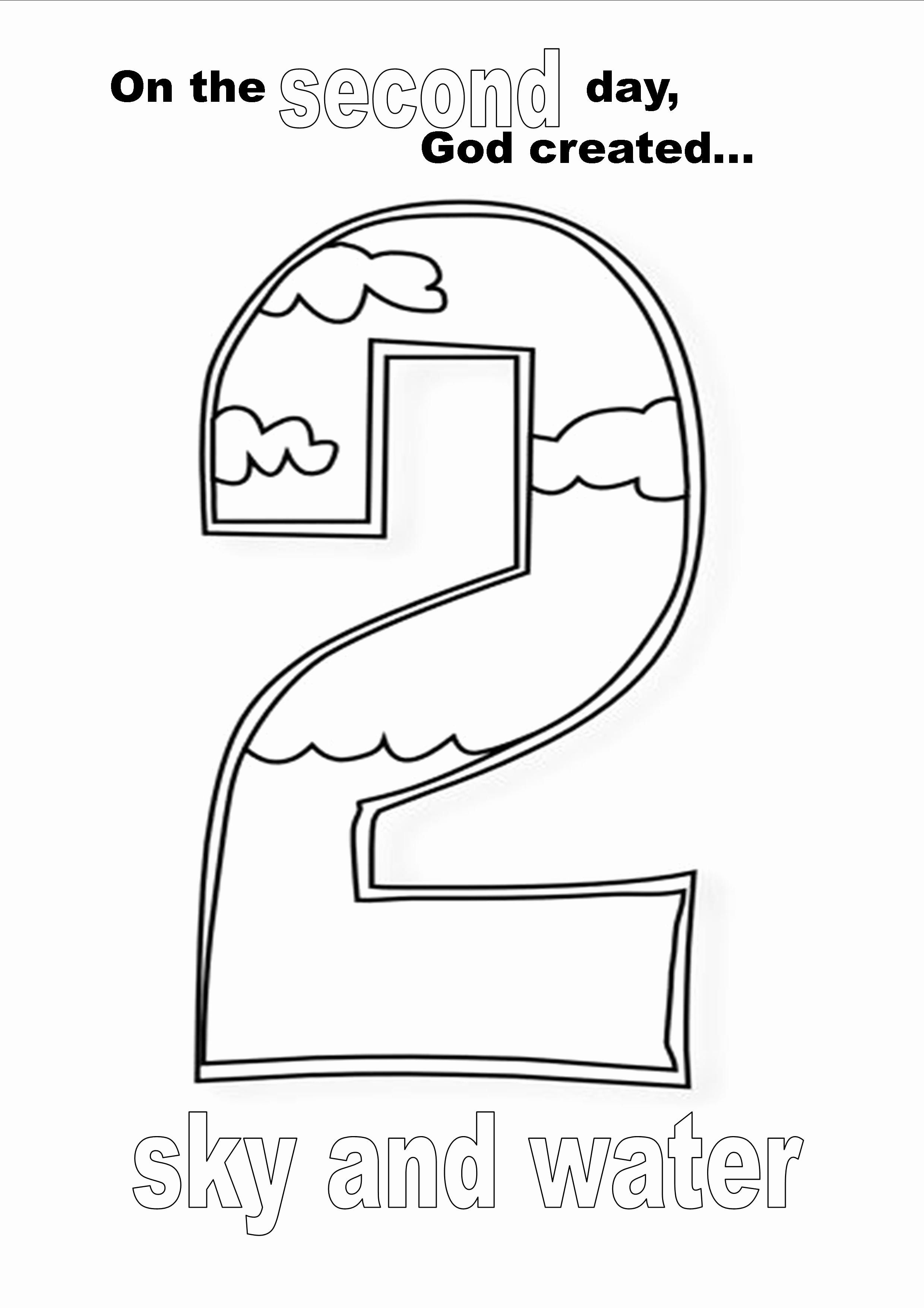 Coloring Activities For 1 Year Olds Beautiful Creation Day Two Coloring Page Kid Stuff In 2020 Creation Coloring Pages Days Of Creation New Year Coloring Pages