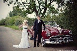 This car - amazing. Sophie & Jonny's Burlesque Themed Rock n Roll Wedding