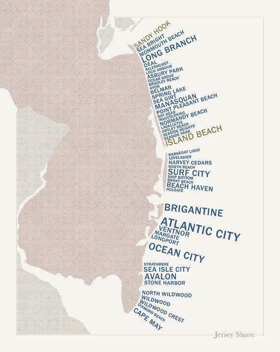 Map Of Jersey Shore Towns : jersey, shore, towns, Jersey, Shore, Towns, GTWoolston, Shore,, Beach, Haven,, Longport