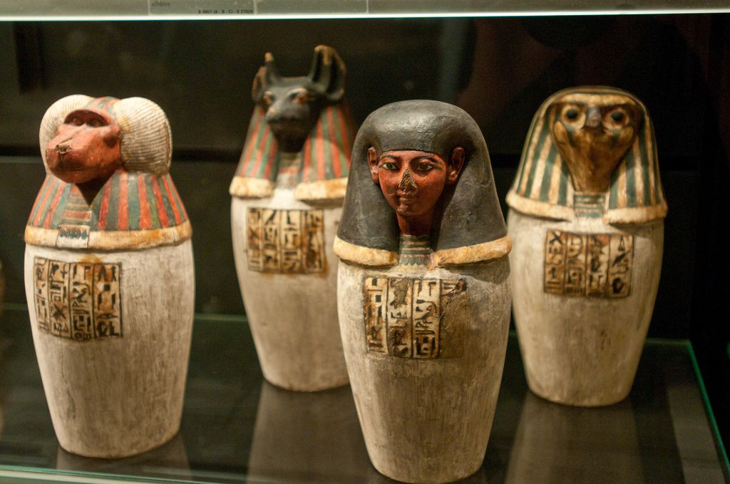 Image result for egyptian canopic jars