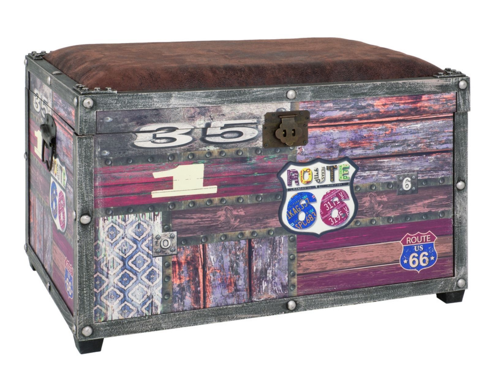 Schubladenschrank Schwarz Weiss Route 66 Ottoman Retro Decorating Storage Bench Seating