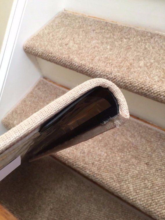 Best Alfa Dusk 100 Wool True Bullnose™ Carpet Stair Tread 400 x 300