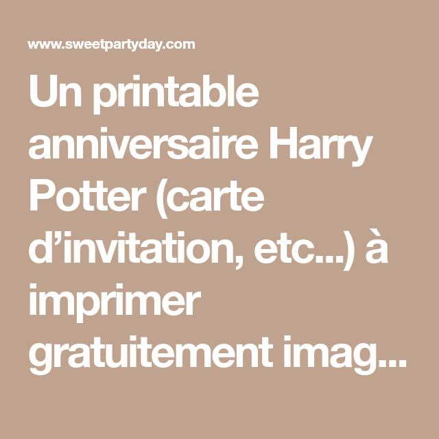 Deco Gratuite A Imprimer Pour Un Anniversaire Harry Potter