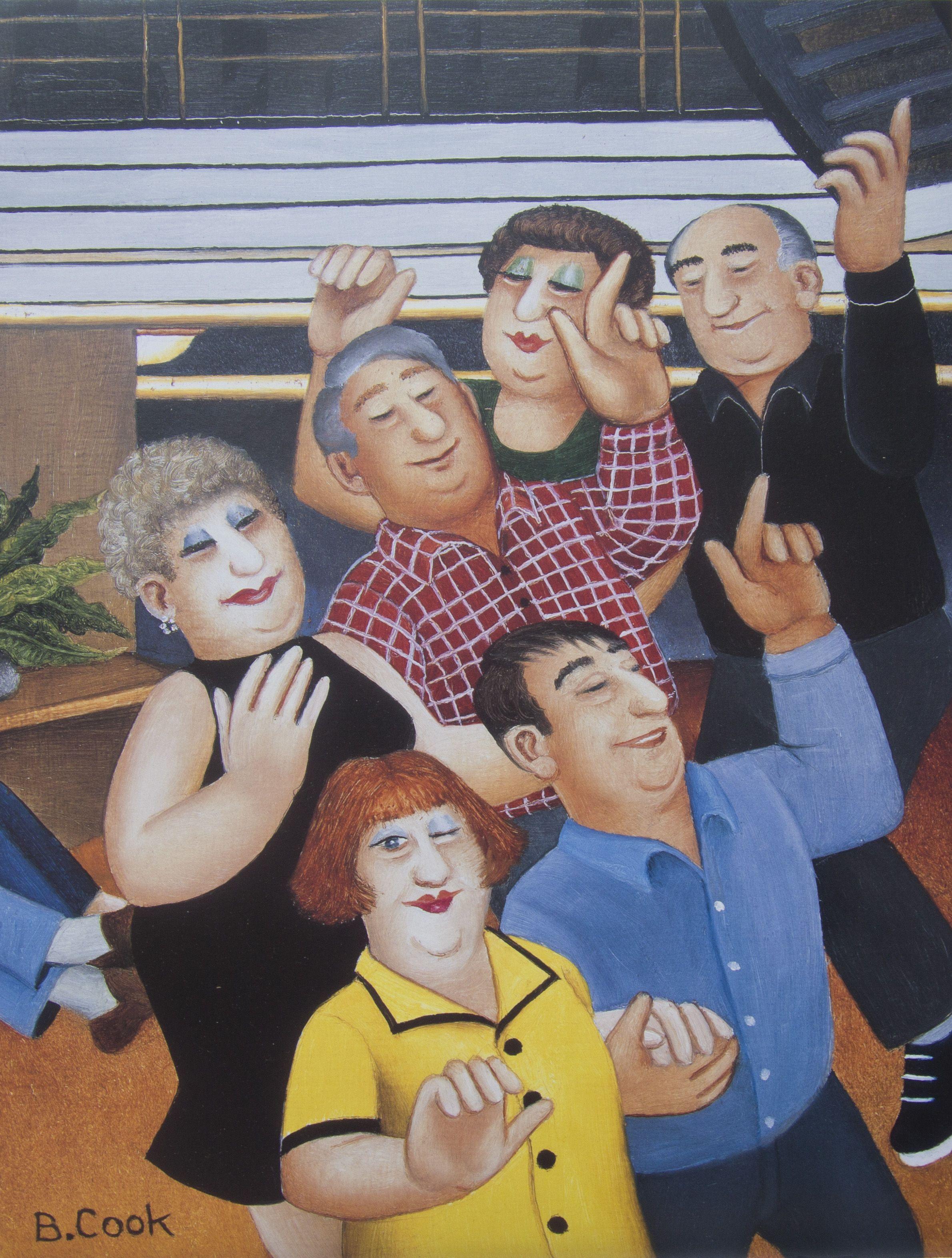 Beryl Cook (British, 1926-2008) Dancing Class   beryls