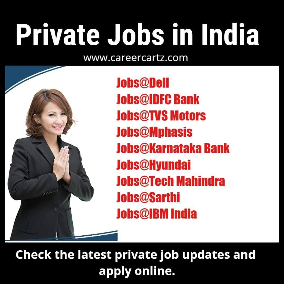 Latest Private Jobs Notification In India Company Job Job Portal Bank Jobs