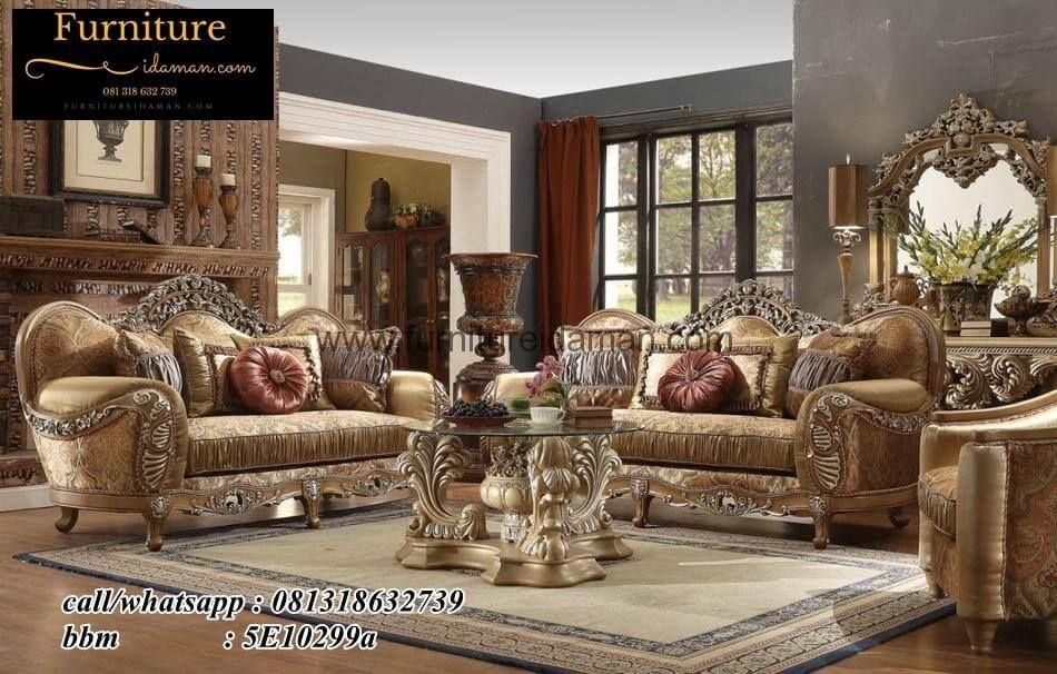 Set Sofa Ruang Tamu Ukiran Super Mewah Ksi 55 Yang Satu Ini Merupakan Salah Desain Modern Minimalis Klasik Bisa Menjadi Pilihan
