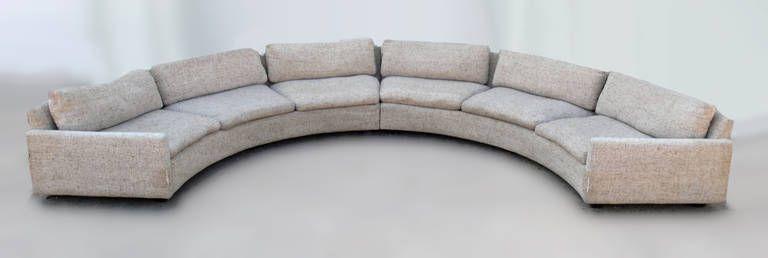 Superbe Milo Baughman Semi Circular Party Sofa
