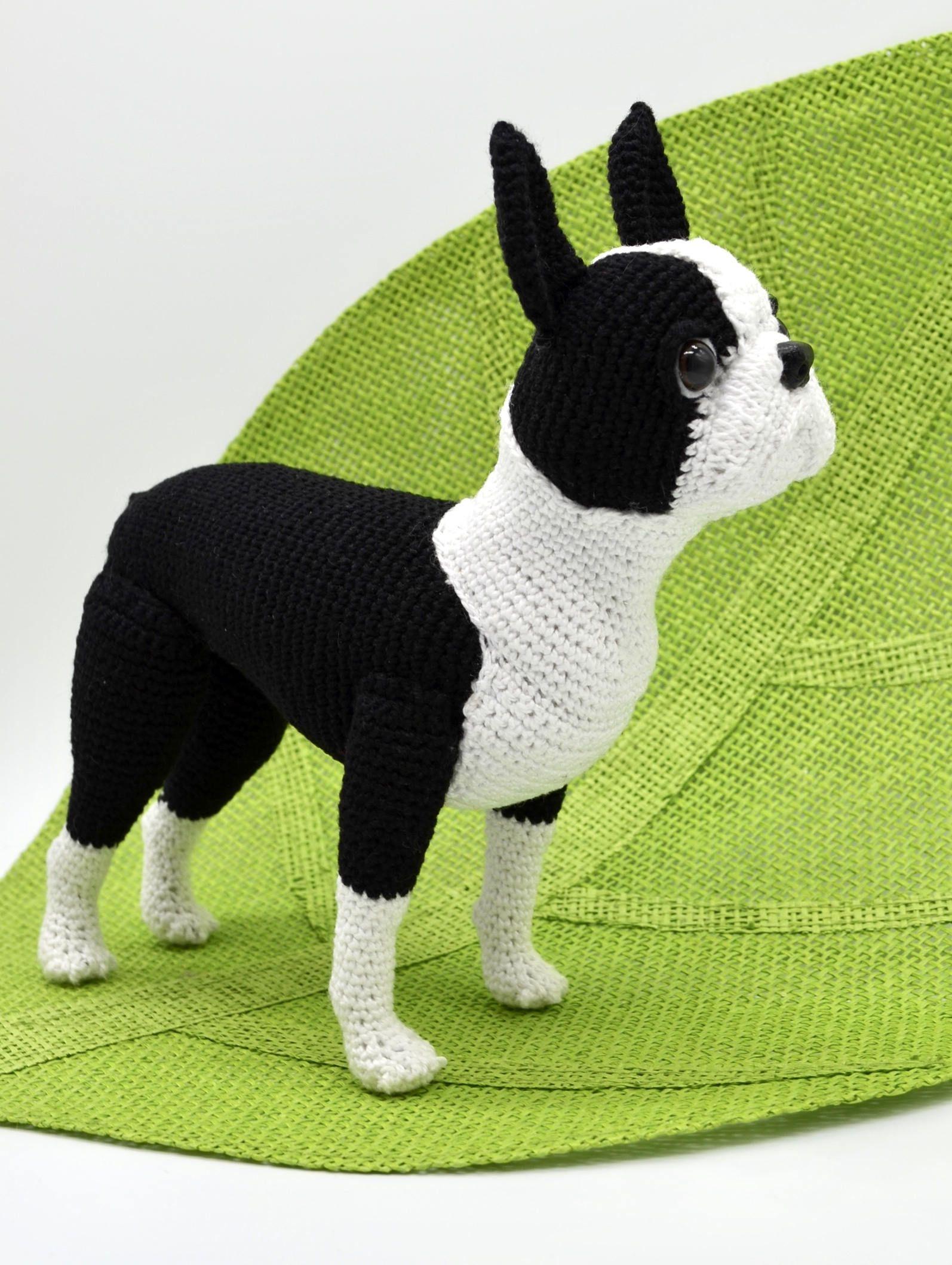 Boston Terrier Crochet Pattern Crochet Dog Amigurumi Pattern Etsy Crochet Dog Crochet Dog Patterns Dog Pattern