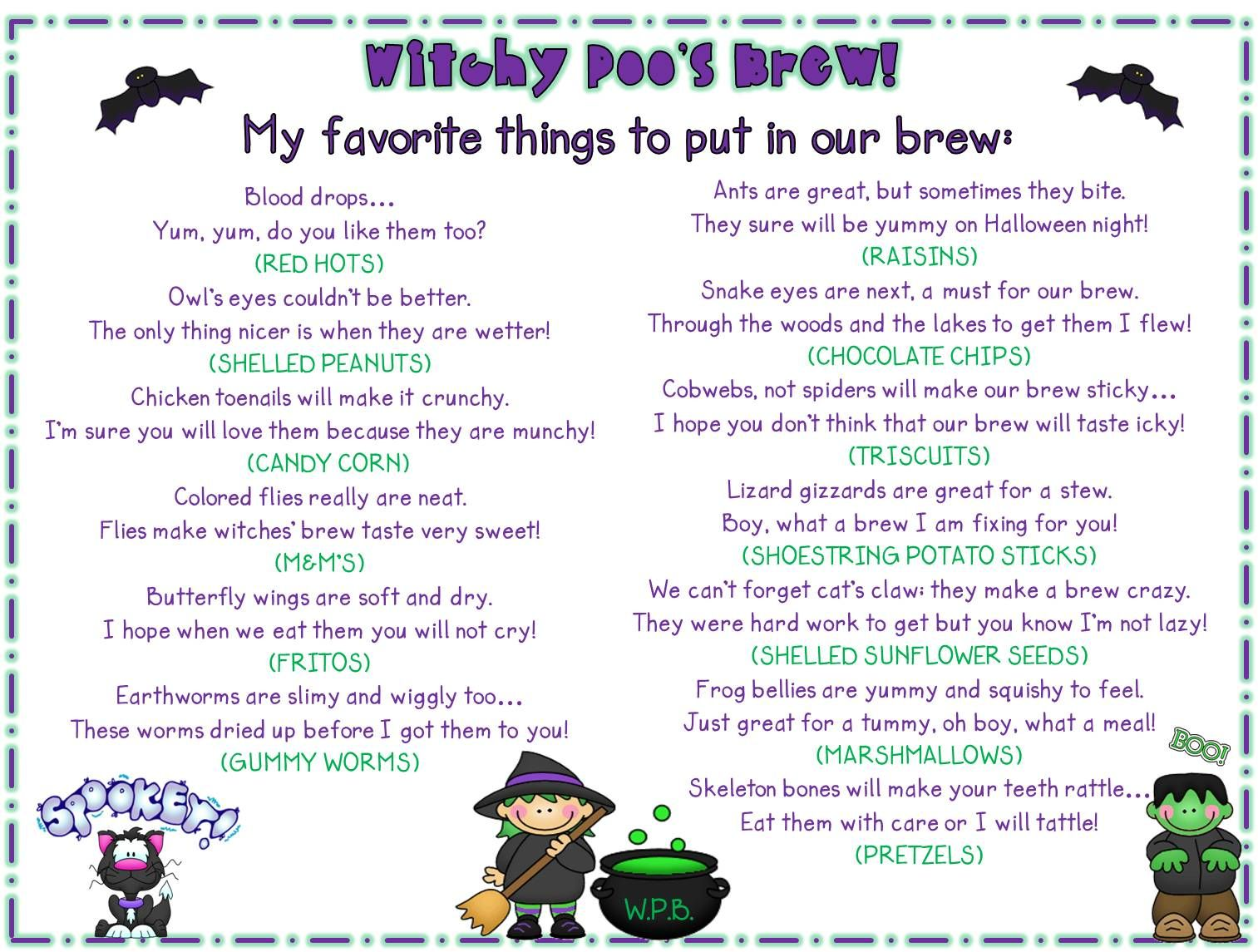 Teacher Copy Of Witchy Poo Story