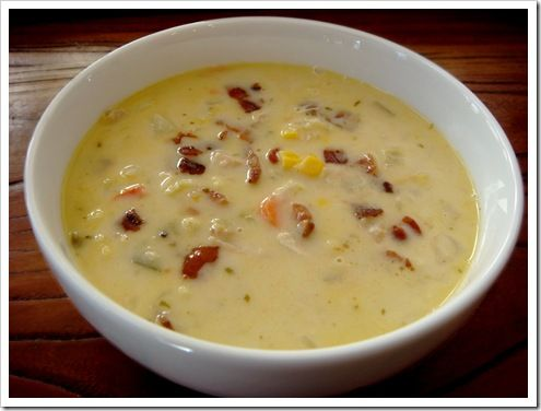 SOUTHWEST TURKEY (OR CHICKEN) VEGETABLE CHOWDER.  We love this with Turkey or Chicken.  I literally throw whatever is in my vegetable bin in this and it is always delicious.  My husband and kids go crazy for it.  Excellent for leftover chicken or turkey!