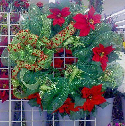 A C Moore Holiday Deco Mesh Wreath Decomesh Wreath Christmas
