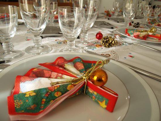 servilleta navidad reuniones familiares comedor aperitivos pollo mesas navideas decoracion mesas