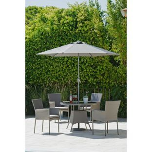 buy havana 4 seater rattan effect patio set grey at argoscouk - Rattan Garden Furniture 4 Seater