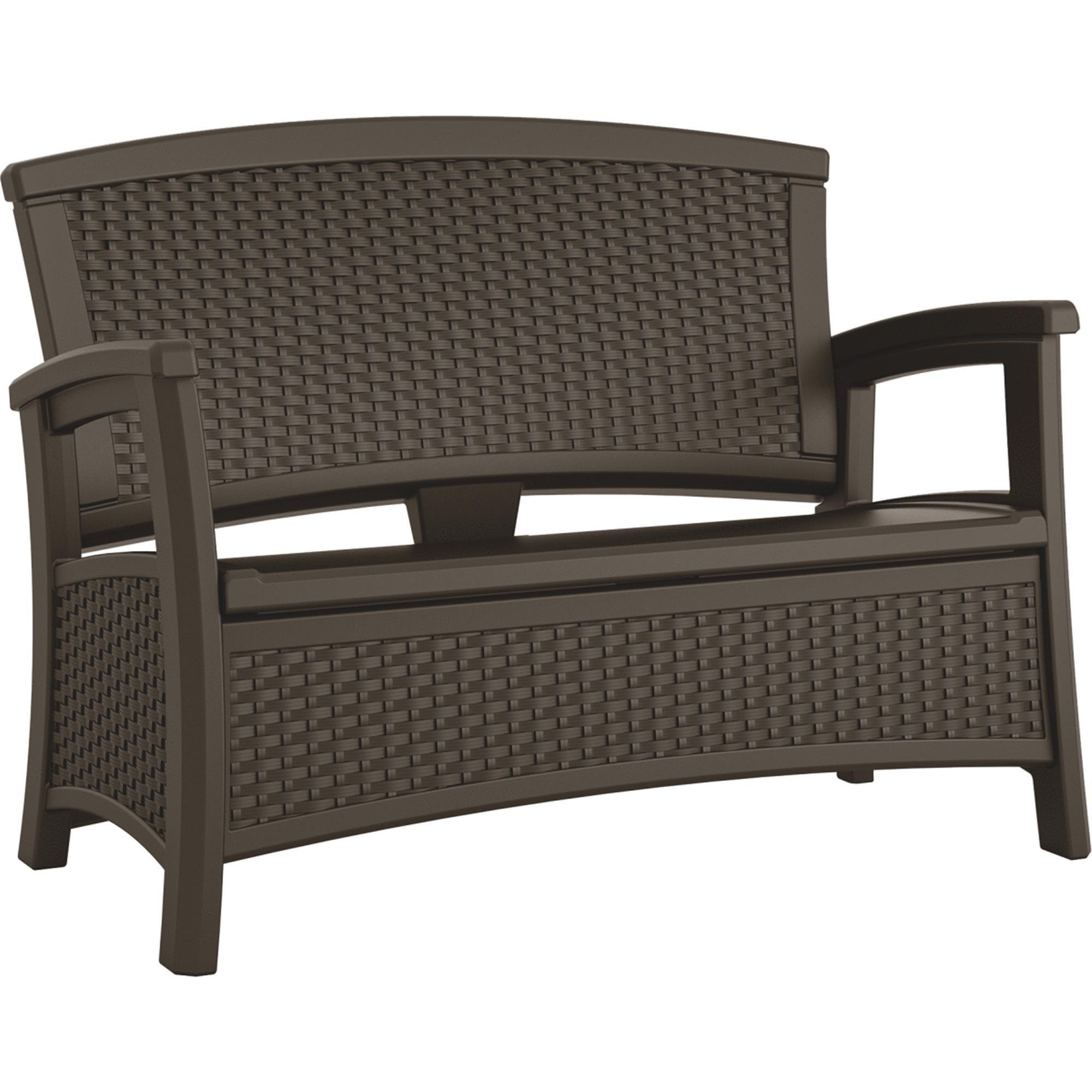 Suncast 23gal Love Seat Deck Box Bmwb5000 In Stock Loveseat Storage Bench Conveniently Stores Outdoor Ac In 2020 Patio Storage Outdoor Loveseat Resin Patio Furniture