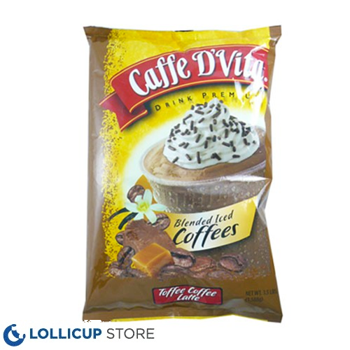 Caffe D'Vita Toffee Coffee Latte Blended Ice Coffee
