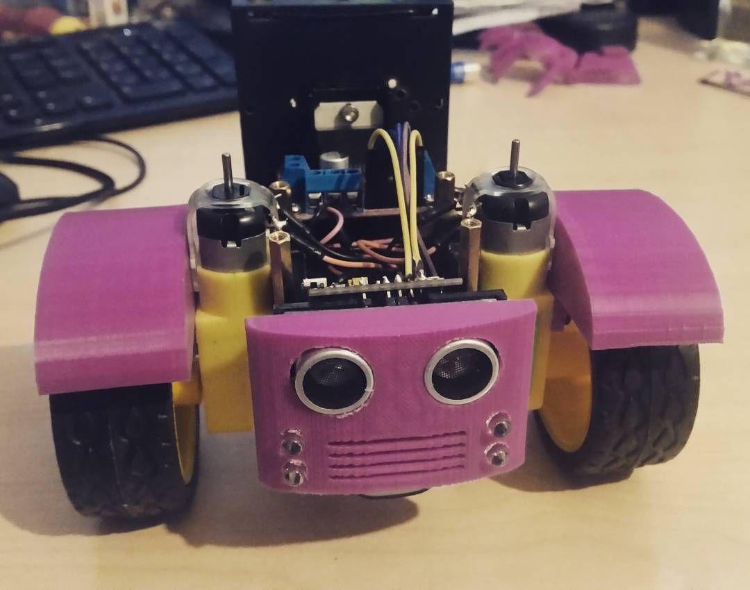 Robots had a facelift. #diyrobotics #3dprinting by reddan82